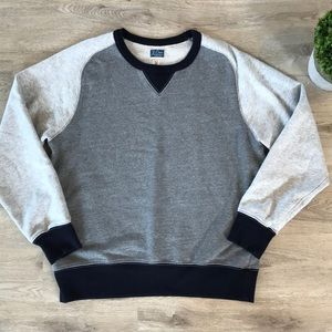 "J.Crew men's ""vintage fleece"" sweatshirt medium"